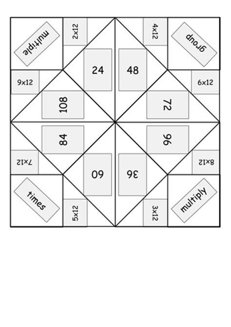 fortune teller template times multiplication table origami fortune tellers word
