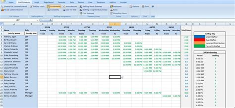 excel scheduling template call center excel templates images