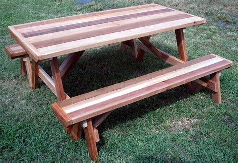 picnic table with detached benches cedar creek woodshop porch swing patio swing picnic table