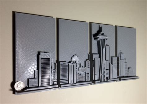 3d printing for artists designers and makers books 3d printed seattle skyline wall 3d printing industry
