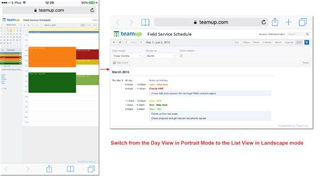 Do Your Calendar Access To Teamup On Mobile Devices