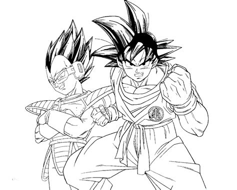 dragon ball z coloring pages vegeta and goku az coloring