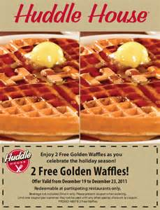 free waffle at the huddle house deals coupons logicbuy