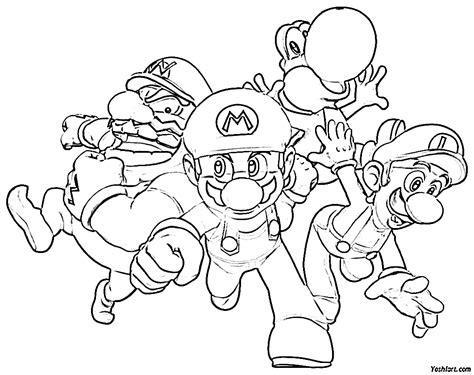 Mario And Sonic And Kirby Colouring Pages Page 2 Mario Coloring