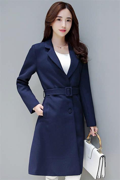 Jfk Jaket Wanita Korea Roundhand Jaket Navy coat wanita korea navy windbreaker coat jyw3383