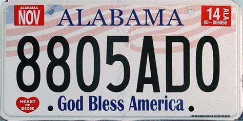 Alabama Vanity Plates by Alabama 3 Y2k