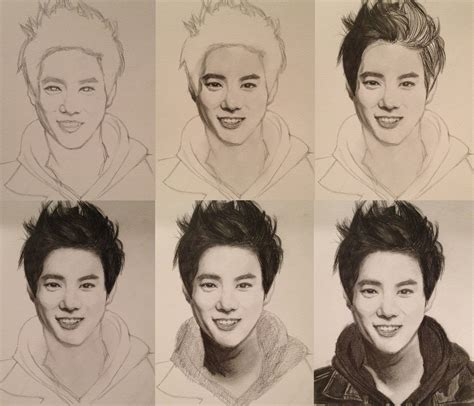 sketchbook exo exo suho drawing steps by casspoon on deviantart