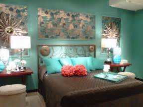 Turquoise rustic bedroom furniture on silver rustic turquoise wall