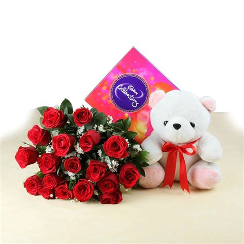 a gift that is soft soft with celebration chocolates and roses gift my emotions