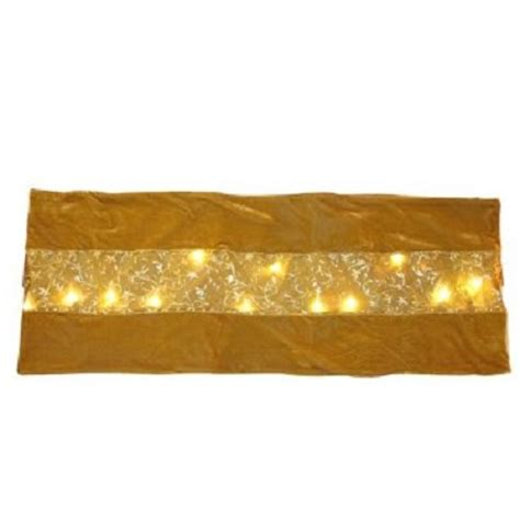 led 20 light velvet table runner