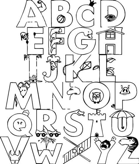 alfabeto para imprimir e pintar alfabeto para imprimir desenhos para colorir s 211 escola