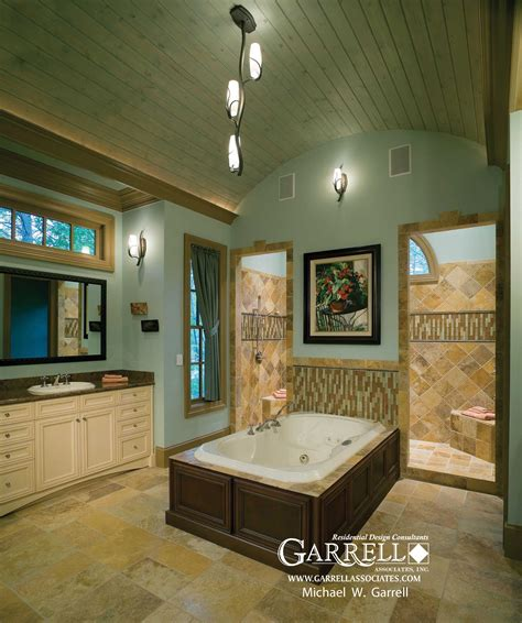 walk through shower floor plans tranquility luxurious mountain house plan