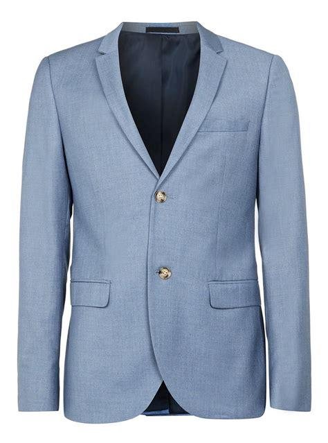 Jacket Light Blue light blue fit suit jacket topman