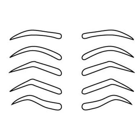 eyebrow shape template drawing common eyebrow shapes for we draw