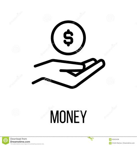 design logo earn money money icon or logo in modern line style stock vector