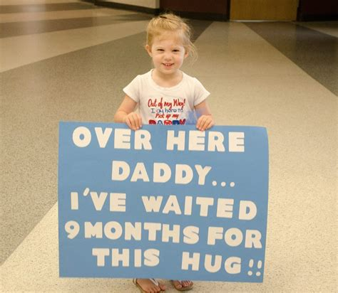 july   cute sign   daddy coming home