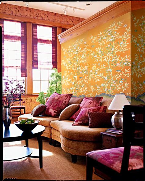 Japanese Living Room Wallpaper Griffin And Wong Chinoiserie Handpainted Wallpaper Asian