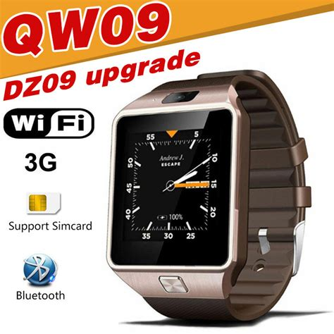 Smartwatch Qw09 qw09 smart dz09 android upgrade bluetooth mobile phone smartwatch 3g wifi card waterproof