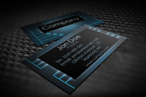 Electronic Card Templates by Modern Electronic Business Card Templates By Borcemarkoski