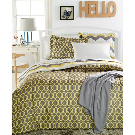 yellow twin xl comforter sunham 7691 chevron yellow 6pc reversible comforter set