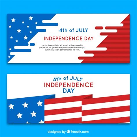 day banner independence day banners flag design vector free