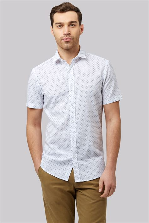 Original Gq Mens Modern Fit Sleeve Kemeja Shirt White 9zsaid moss 1851 slim fit white linen sleeve printed casual