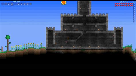 Build A Small House by Terraria Castle Speed Build Youtube