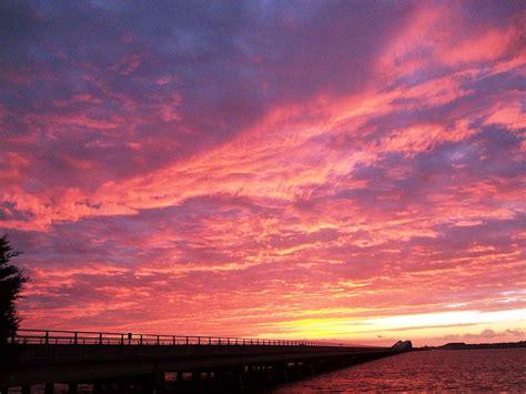 sky   fire pink sunset roanoke island flickr