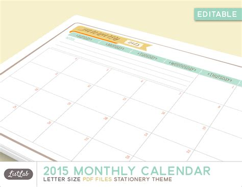 printable 6 month planner 2015 6 best images of editable may 2015 monthly calendar