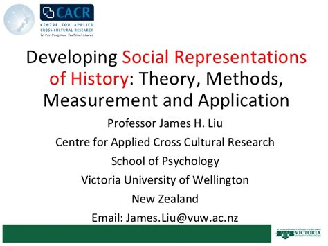 measurement theory and applications for the social sciences methodology in the social sciences books developing social representations of history theory