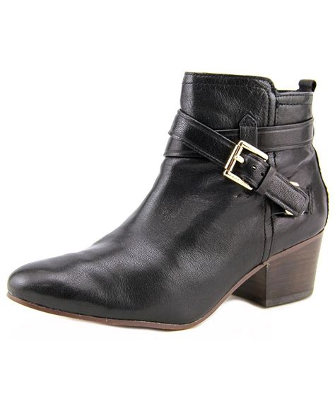 coach boots coach pauline toe leather ankle boot in multicolor