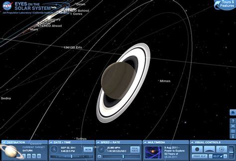 View The Sky and Solar System Through NASA. Real Time