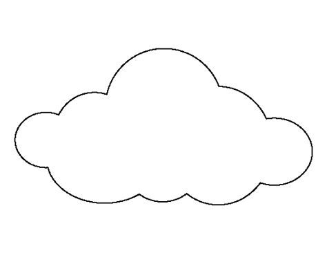 large cloud pattern   printable outline  crafts