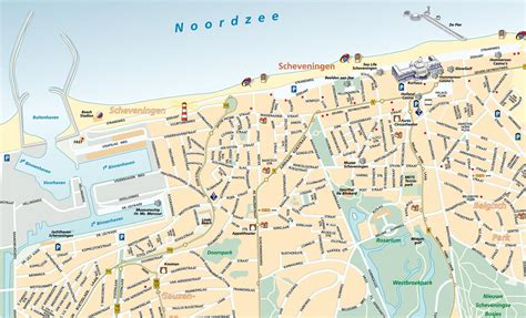 netherlands large map large detailed tourist map of scheveningen