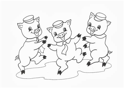 three pigs coloring pages three pigs free colouring pages