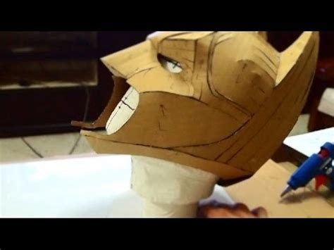 diy batman mask template 23 batman cowl diy 1 3 cardboard cut glue with