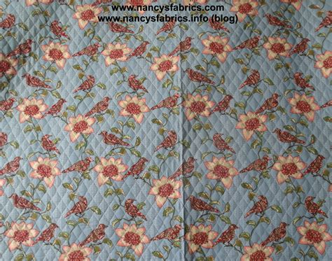 Quilted Cotton Fabric quilted birds flowers cotton fabric fabric