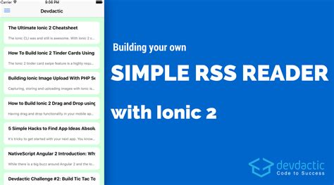 ionic header tutorial building your own simple rss reader with ionic devdactic
