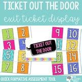 ticket out the door template ticket out the door template teaching resources teachers
