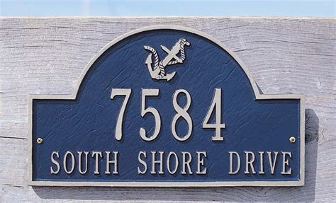 personalized anchor arch home address plaque