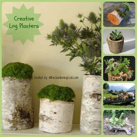 planters diy log planters great diy project for old logs
