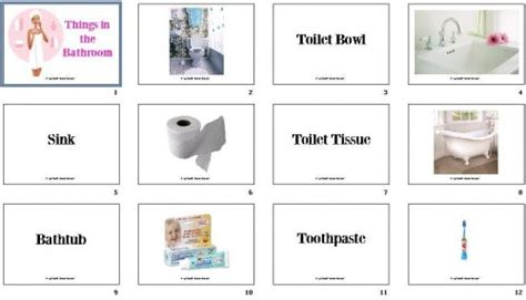 Things In The Bathroom In by Diy Flashcards 24 Things In The Bathroom