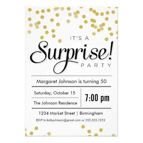 confetti surprise party invitation 5 quot x 7 quot invitation card