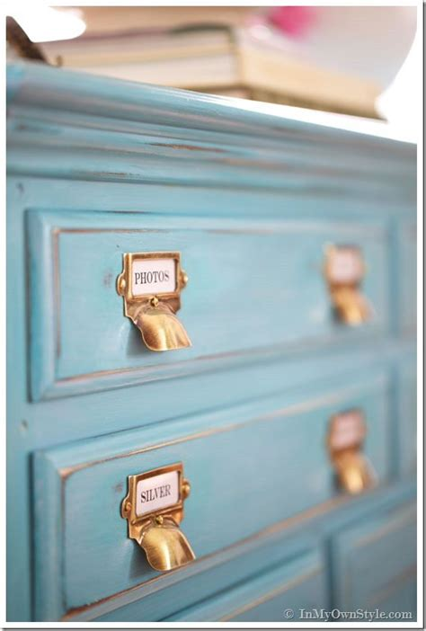 diy chalk paint glaze before and after furniture makeover in turquoise