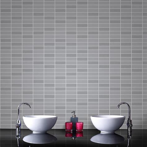 removable wallpaper clean graham brown gray shimmer rimini tile removable