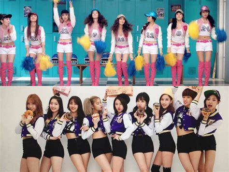 twice plagiat snsd terlalu mirip dalam banyak hal netizen sebut twice versi