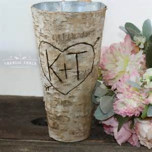 personalized home decor gifts rustic personalized birch vase wedding gift wedding