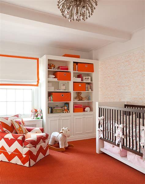 Orange Nursery Decor White And Orange Nursery Contemporary Nursery Lilly Bunn Interior