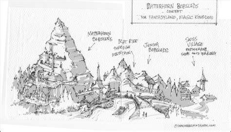 disney world reveals new name artwork models for matterhorn for magic kingdom fantasyland imagineering