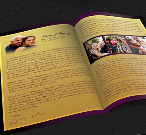Template For Pastor Appreciation Service Just B Cause Church Anniversary Program Template